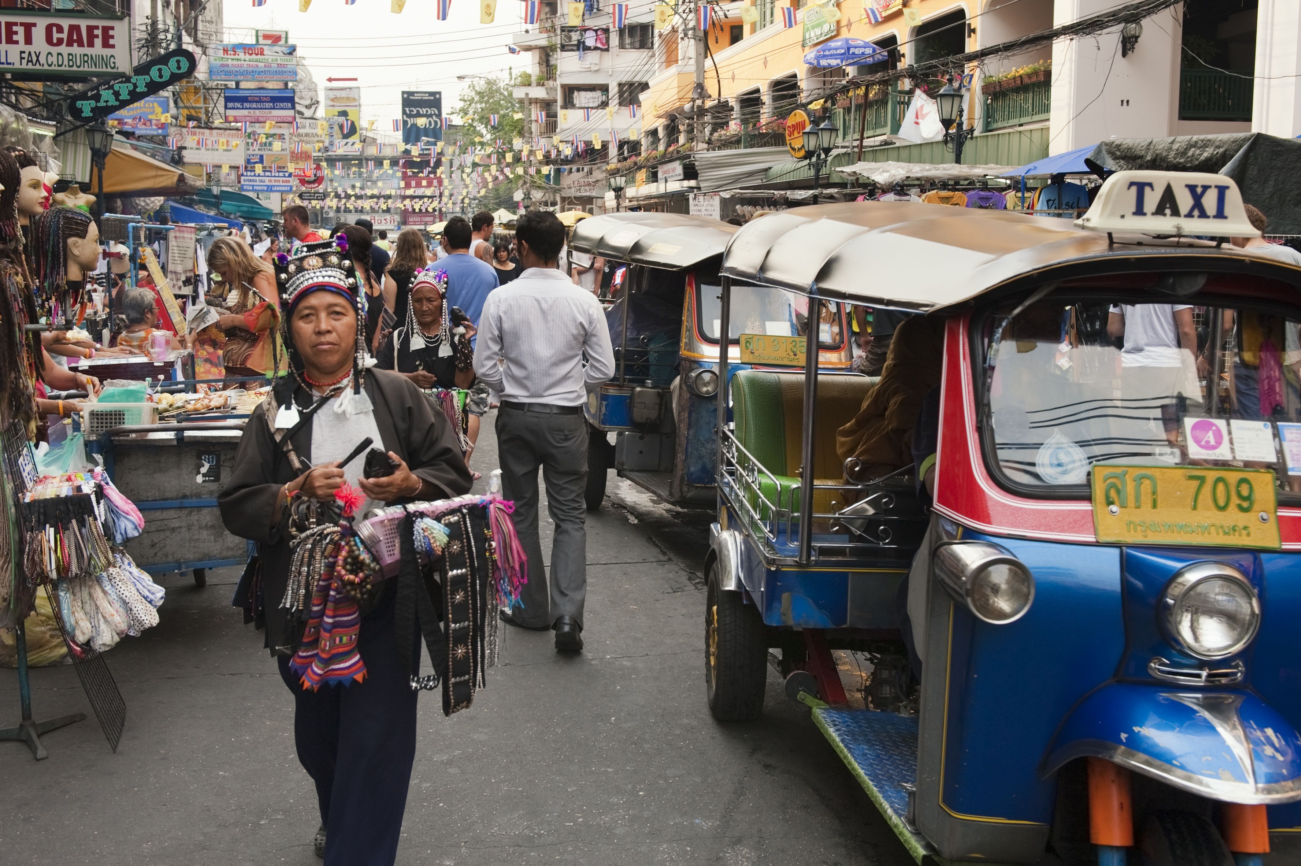 Khao San Road in Bangkok During the Day