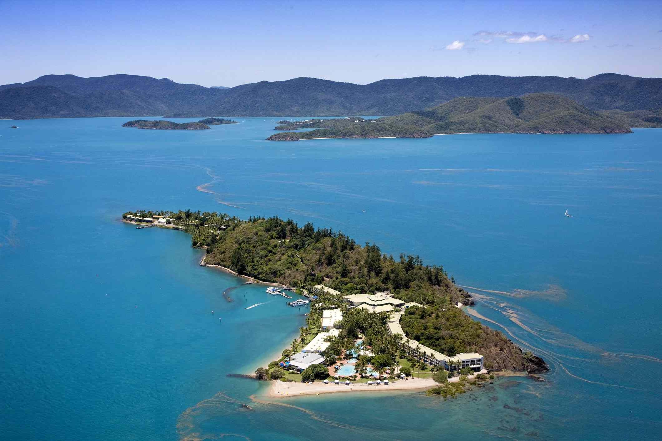 Aerial view of Daydream Island, Whitsundays, Queensland, Australia