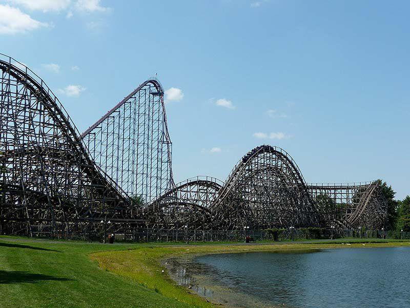 Predator coaster at Six Flags Darien Lake