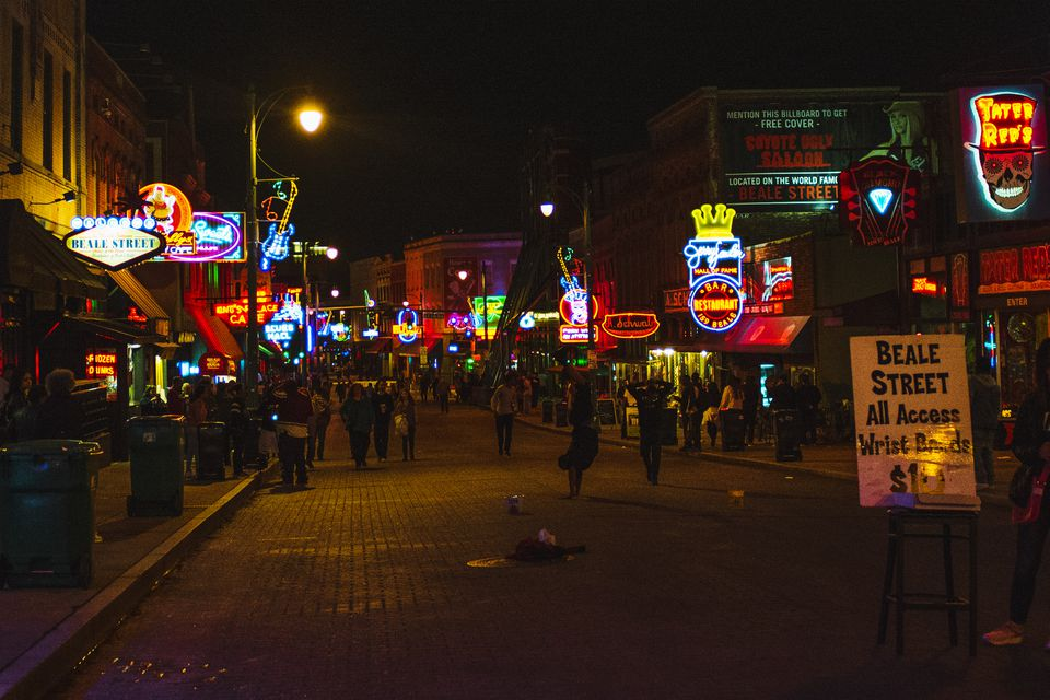Bar signs on Beale Street