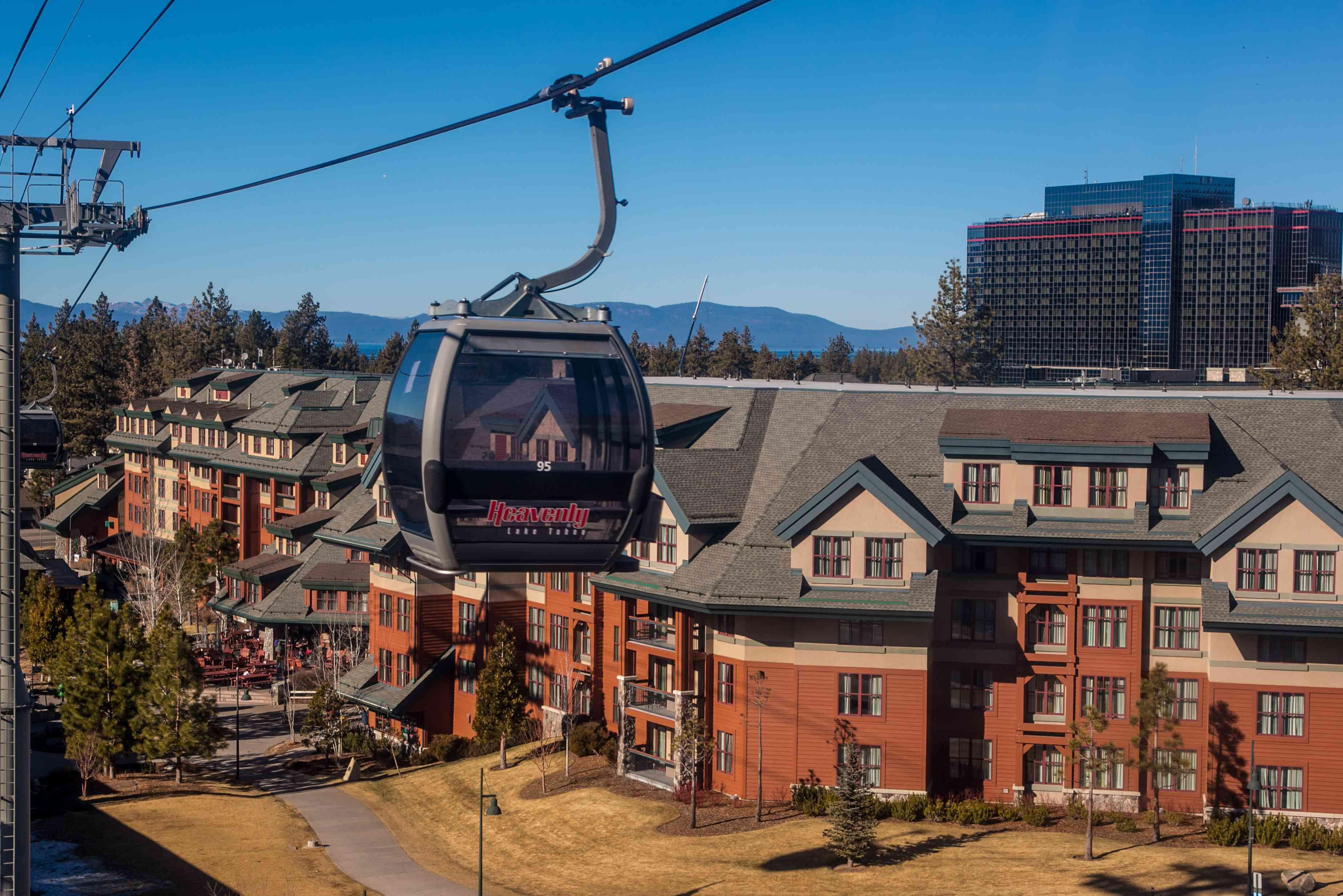 Aerial gondola at Heavenl, Lake Tahoe