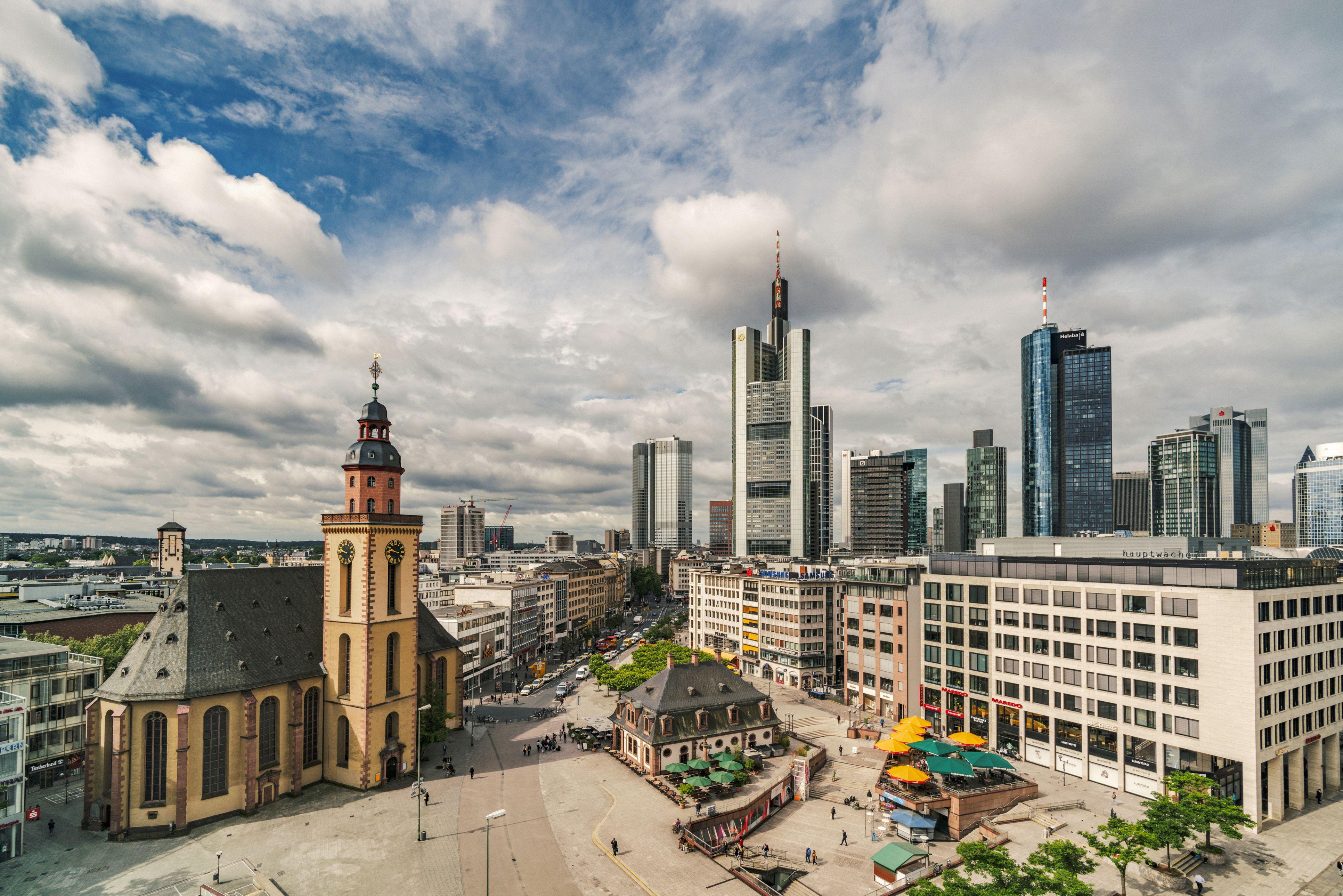 View over Hauptwache in Frankfurt, Germany