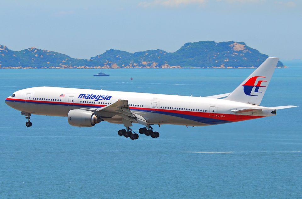 Malaysia Airlines plane in flight