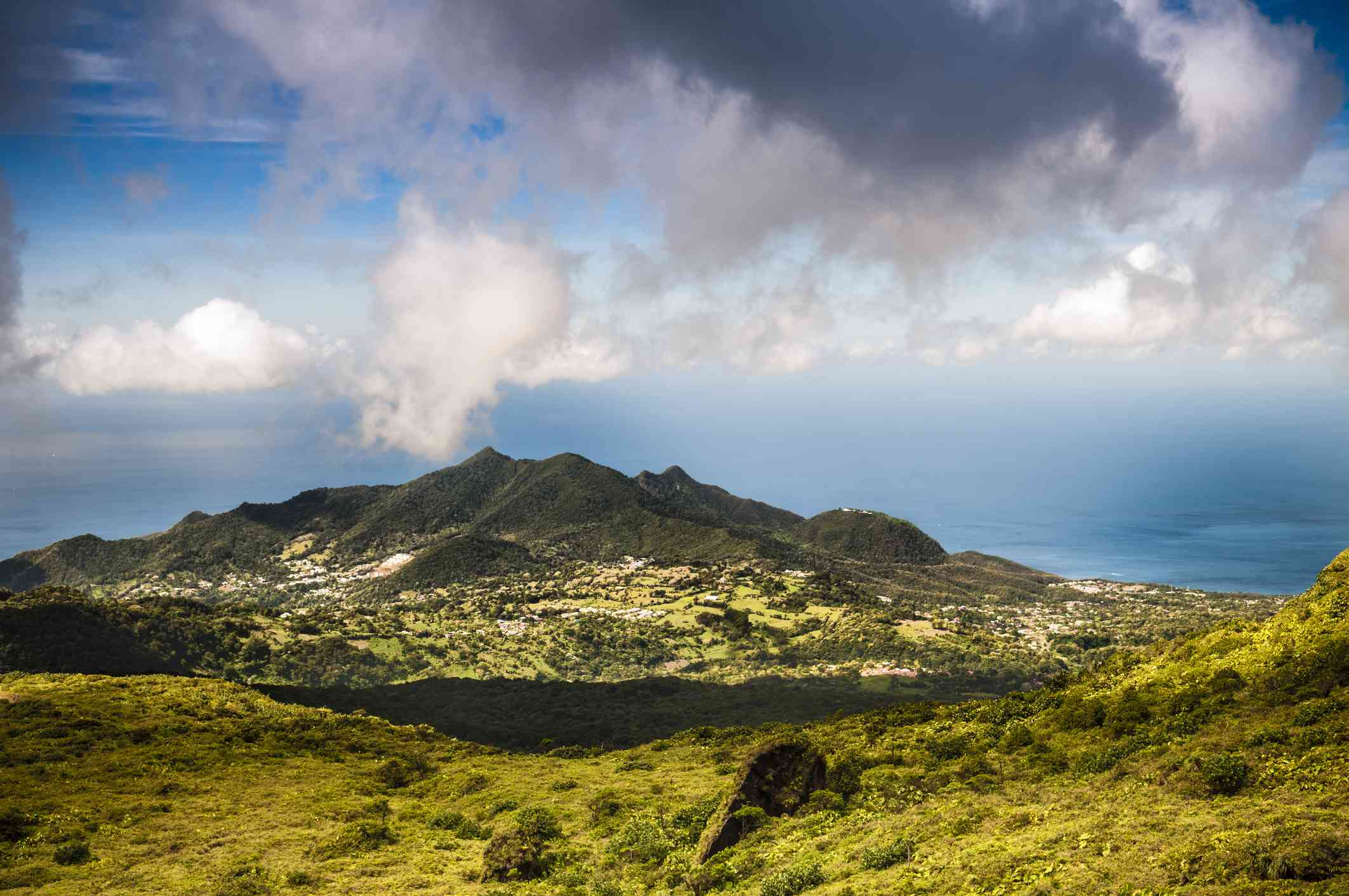 View of La Soufriere against the sky