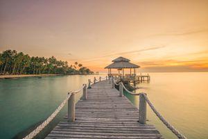 Wooded bridge pier in Phuket