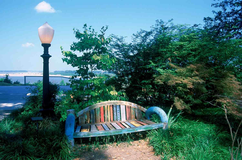 Gasparilla bench, Natl Ornamental Metal Museum