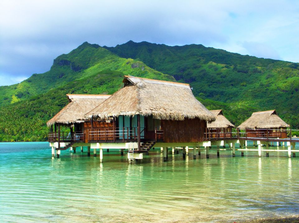 Polynesian house on stilts
