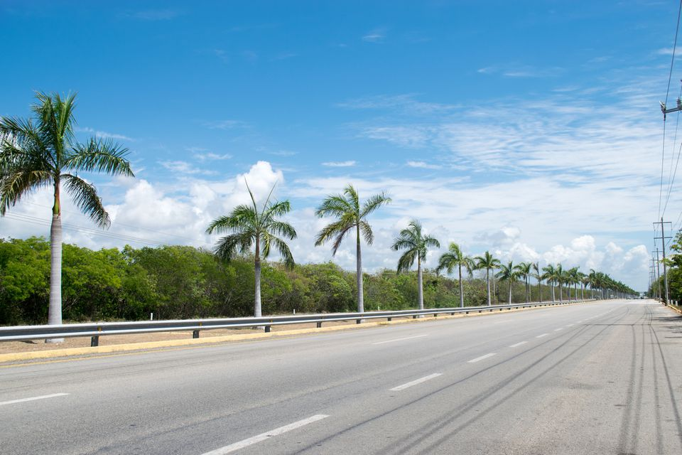 Highway at Mayan Riviera in Mexico