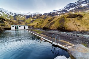 Seljavallalaug Hot Spring in Southern Iceland