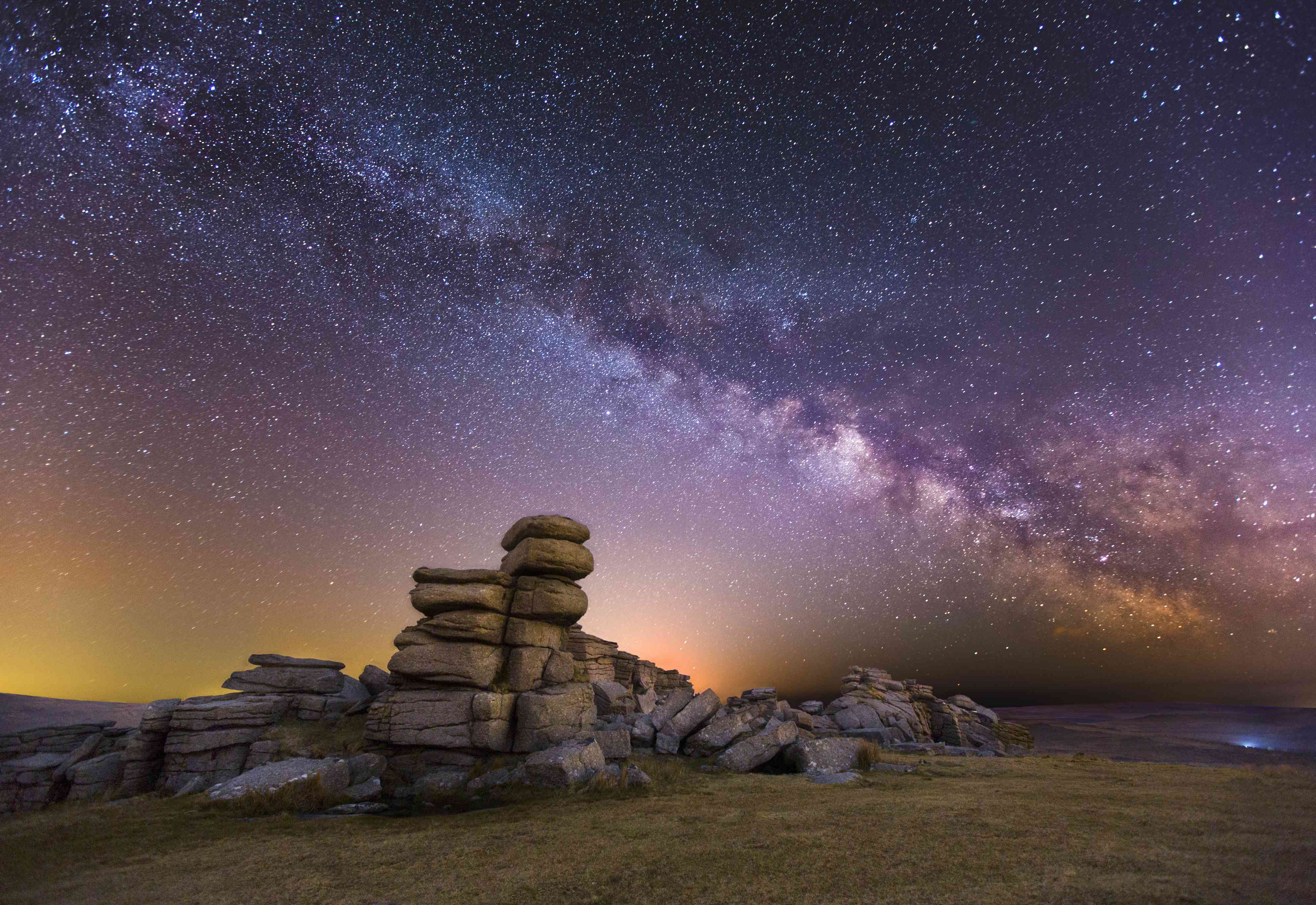Great Staple Tor at Night