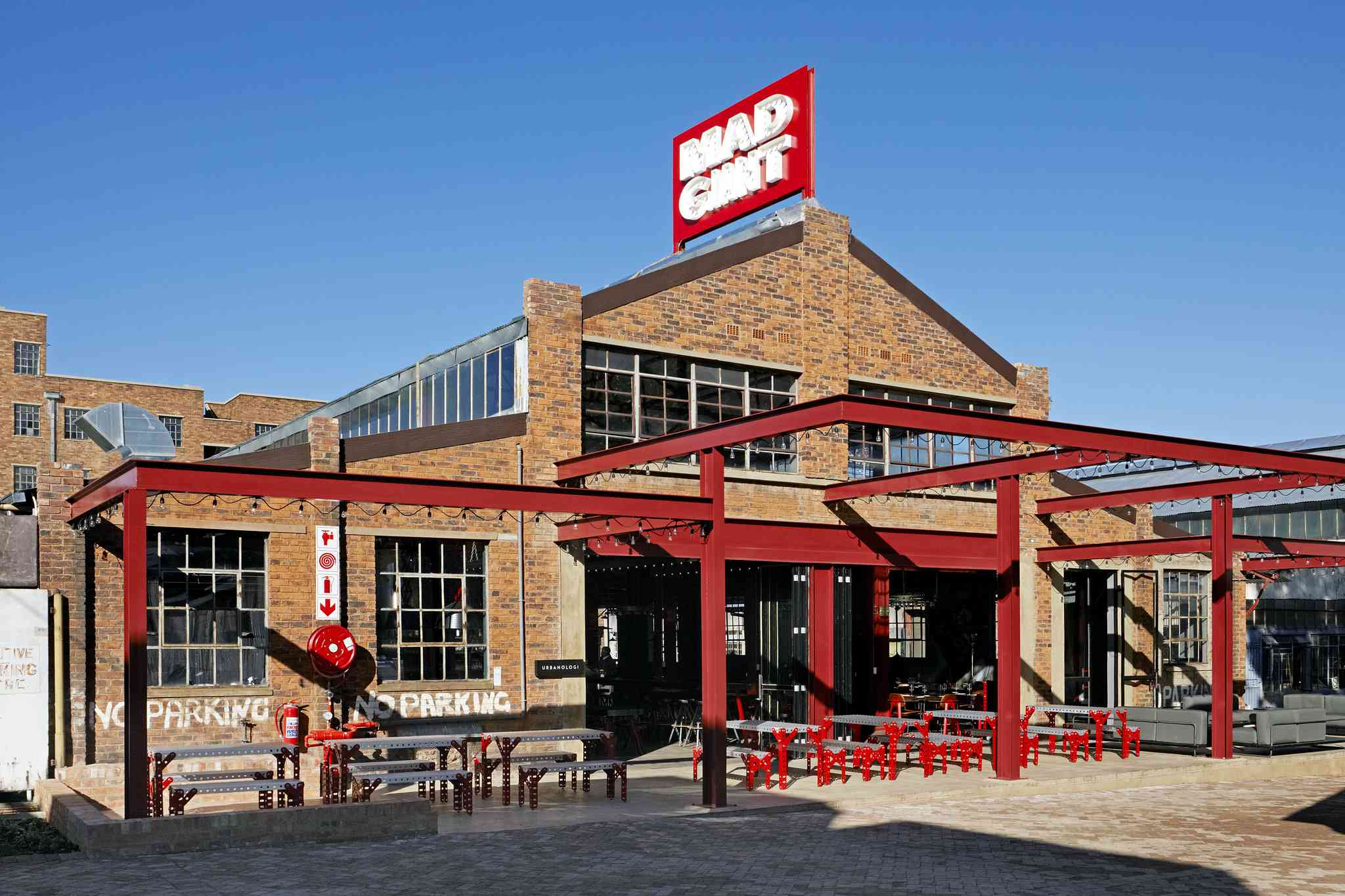Exterior of Mad Giant Brewery, Johannesburg