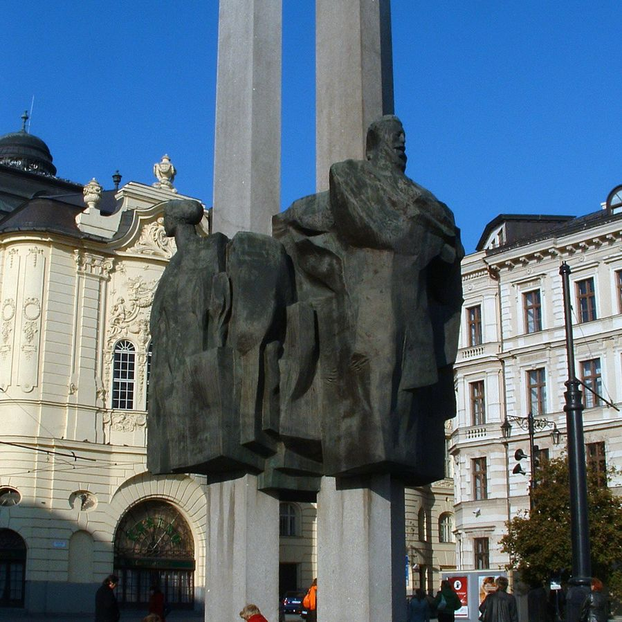 Memorial Statue in Bratislava