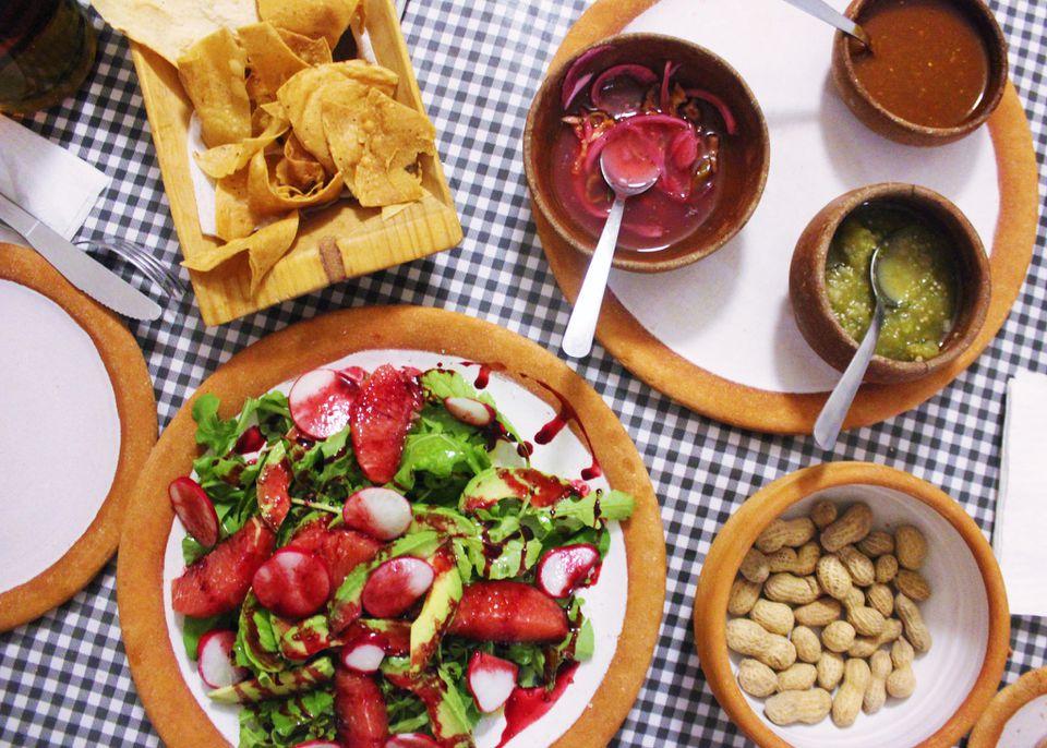 Oaxaca Mexico vegetarian salad