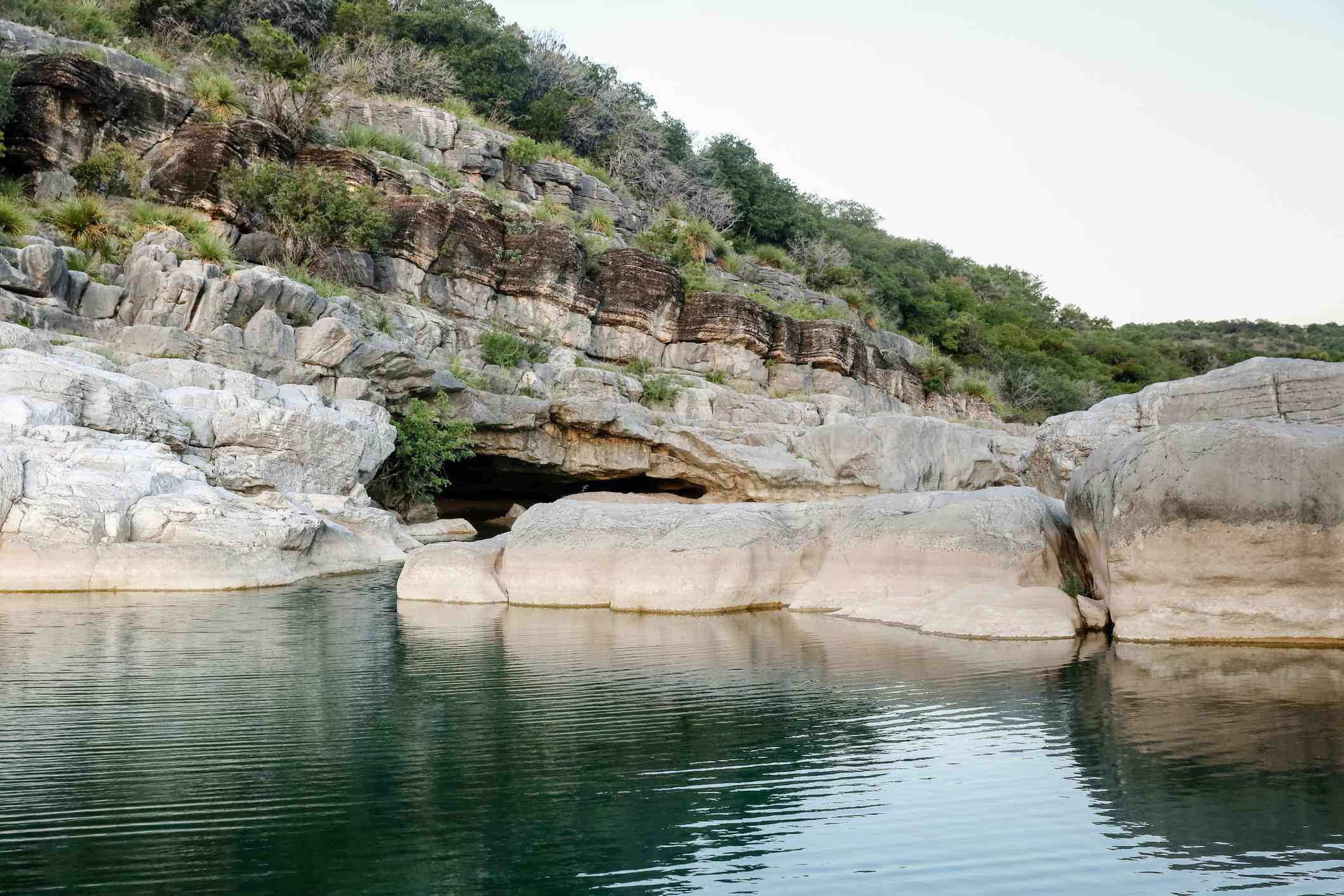 Pedernales Falls State Park Rock feature at the falls