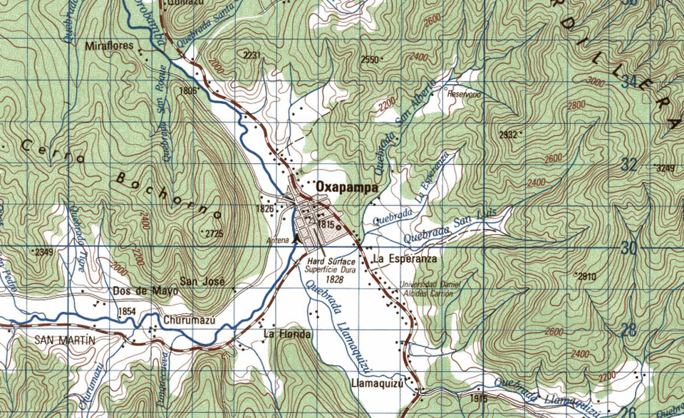 Free Topographic Maps of Peru 1 100 000