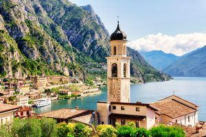 Limone sul Garda, town on the north west side of the famous Lake in Northern Italy