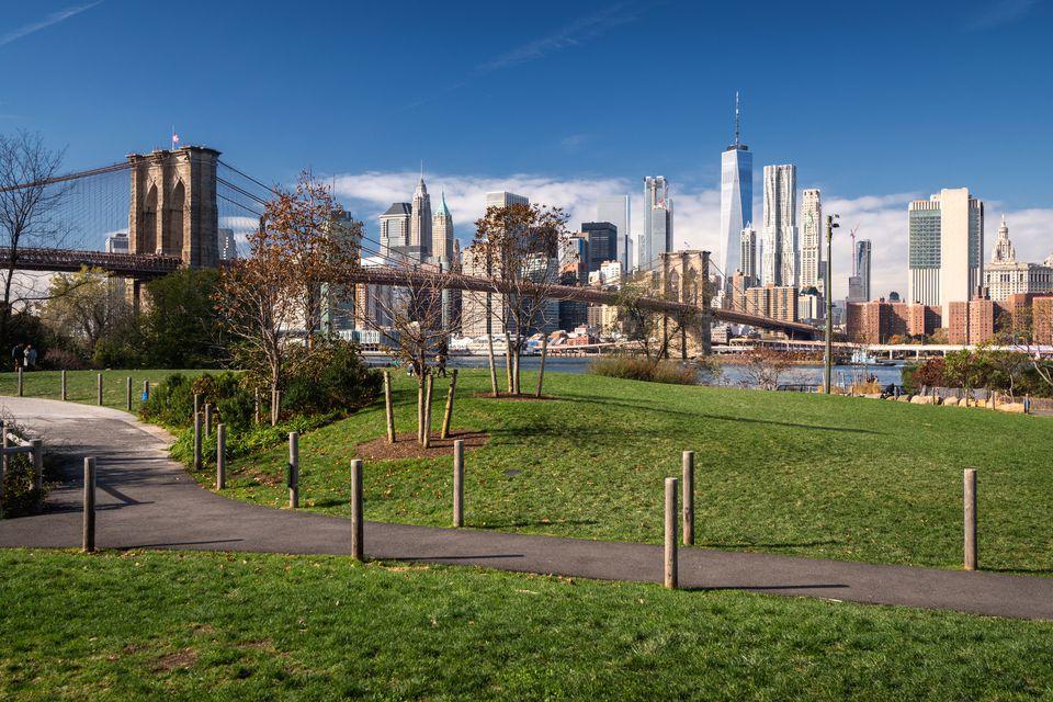 View of Manhattan from Brooklyn Bridge Park