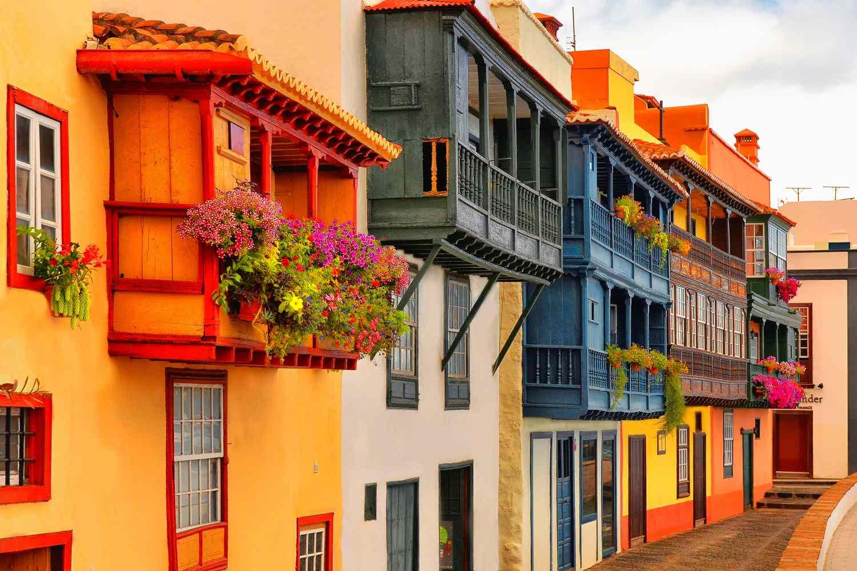 Balconies on the island of La Palma