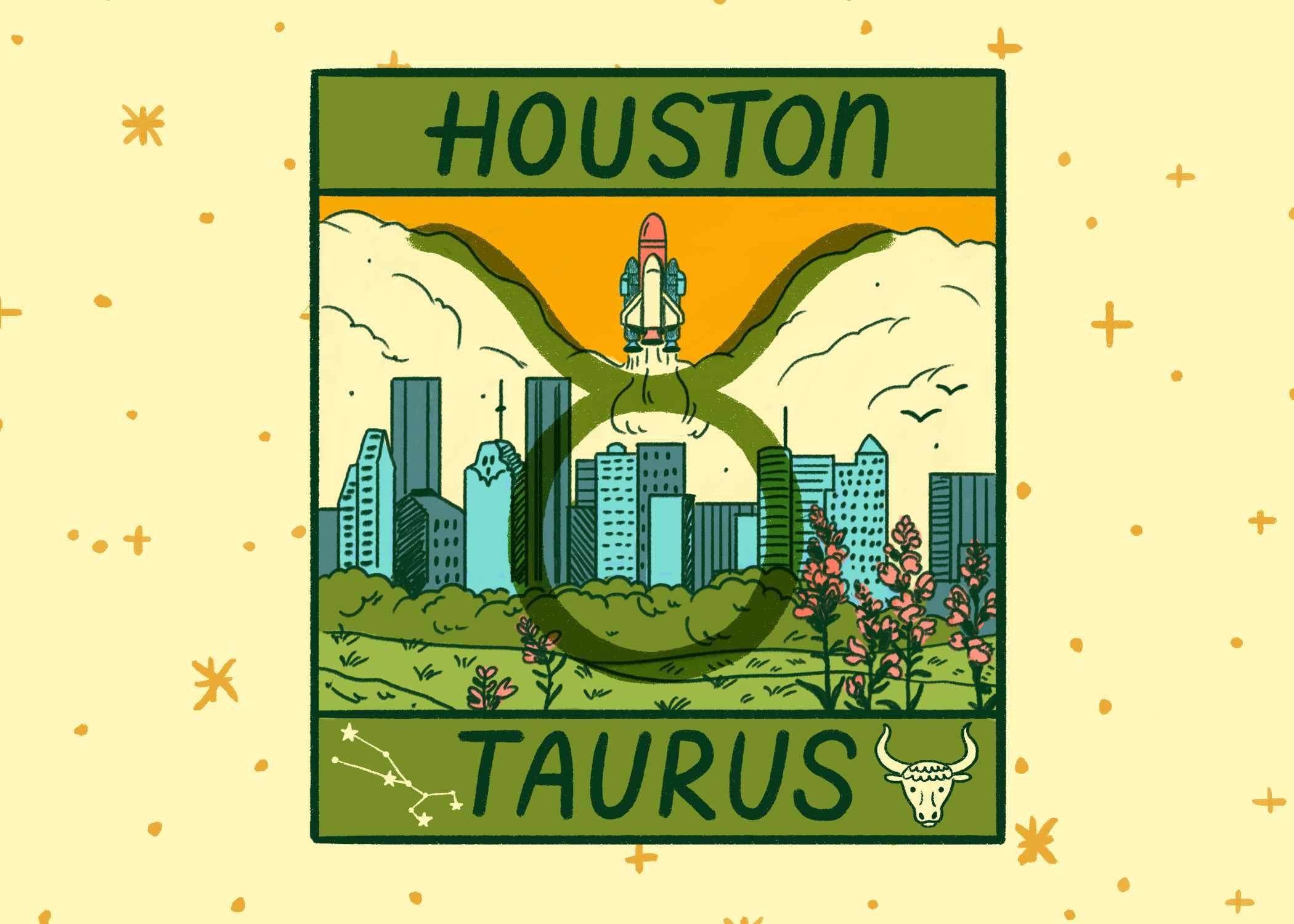 Illustration of Houston and Taurus