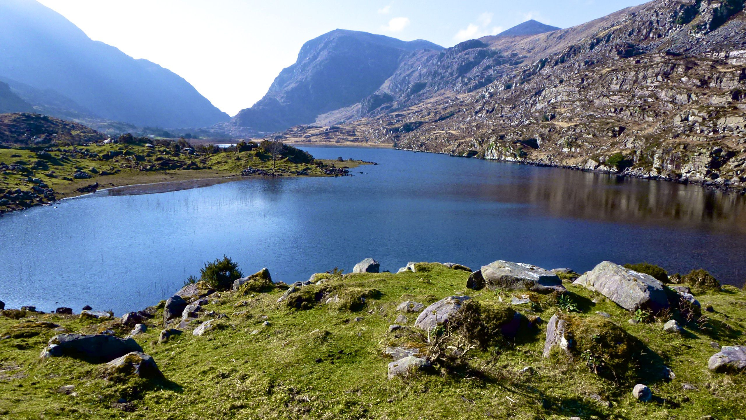 Stop along the ring of Kerry at the Gap of Dunloe