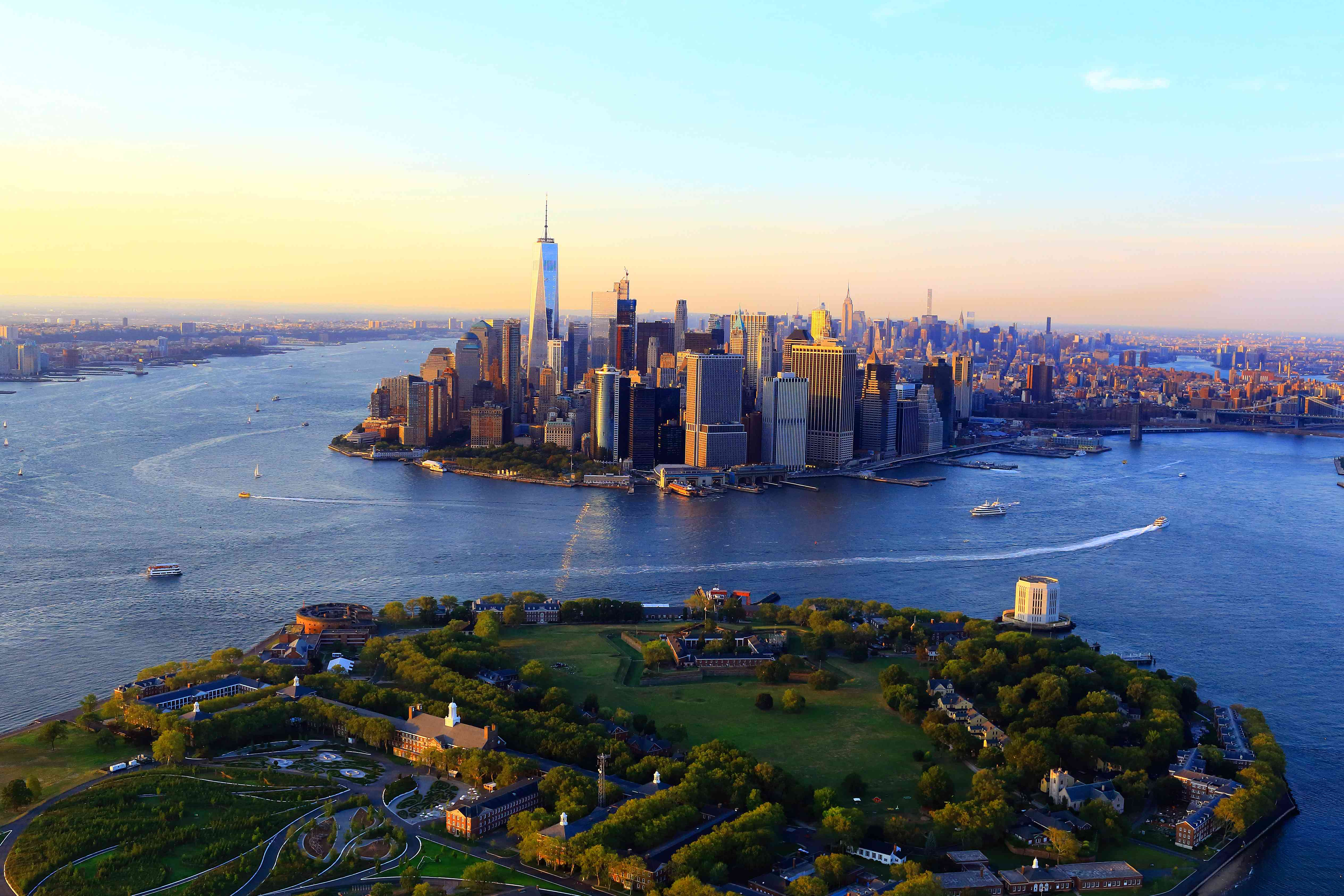 Governors island and Manhattan