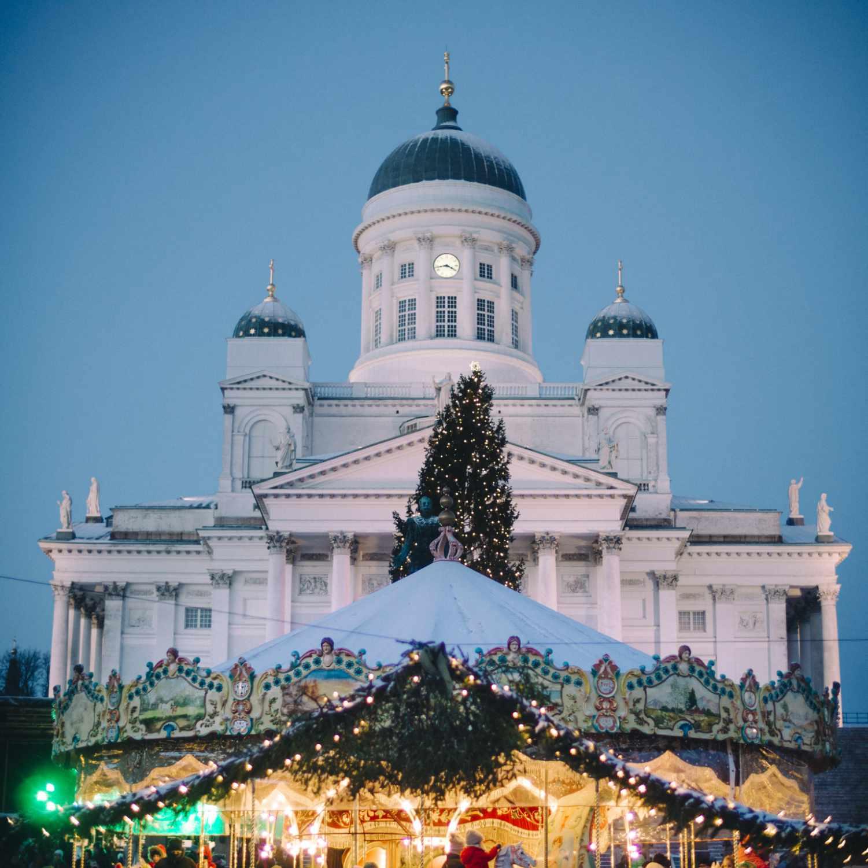 Christmas Market in Helsinki, Finland