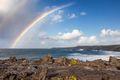 Rainbow over the ocean in Kapalua, Maui