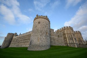 Exterior fortified wall of Windsor Castle
