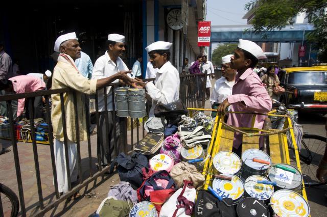 Mumbai dabbawalas.