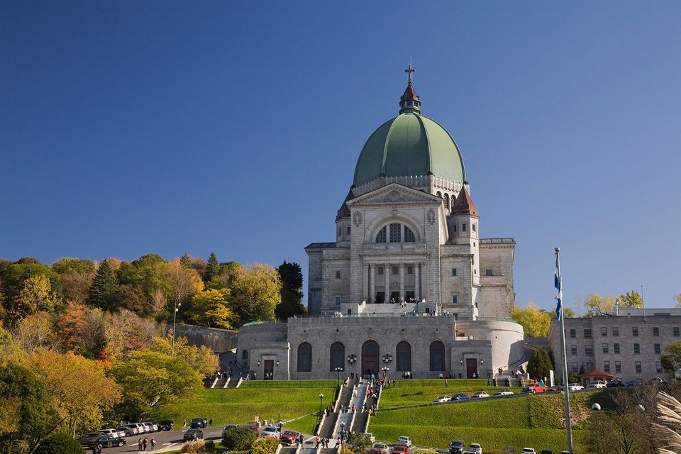 Saint-Josephs Oratory in autumn, Montreal, Quebec, Canada