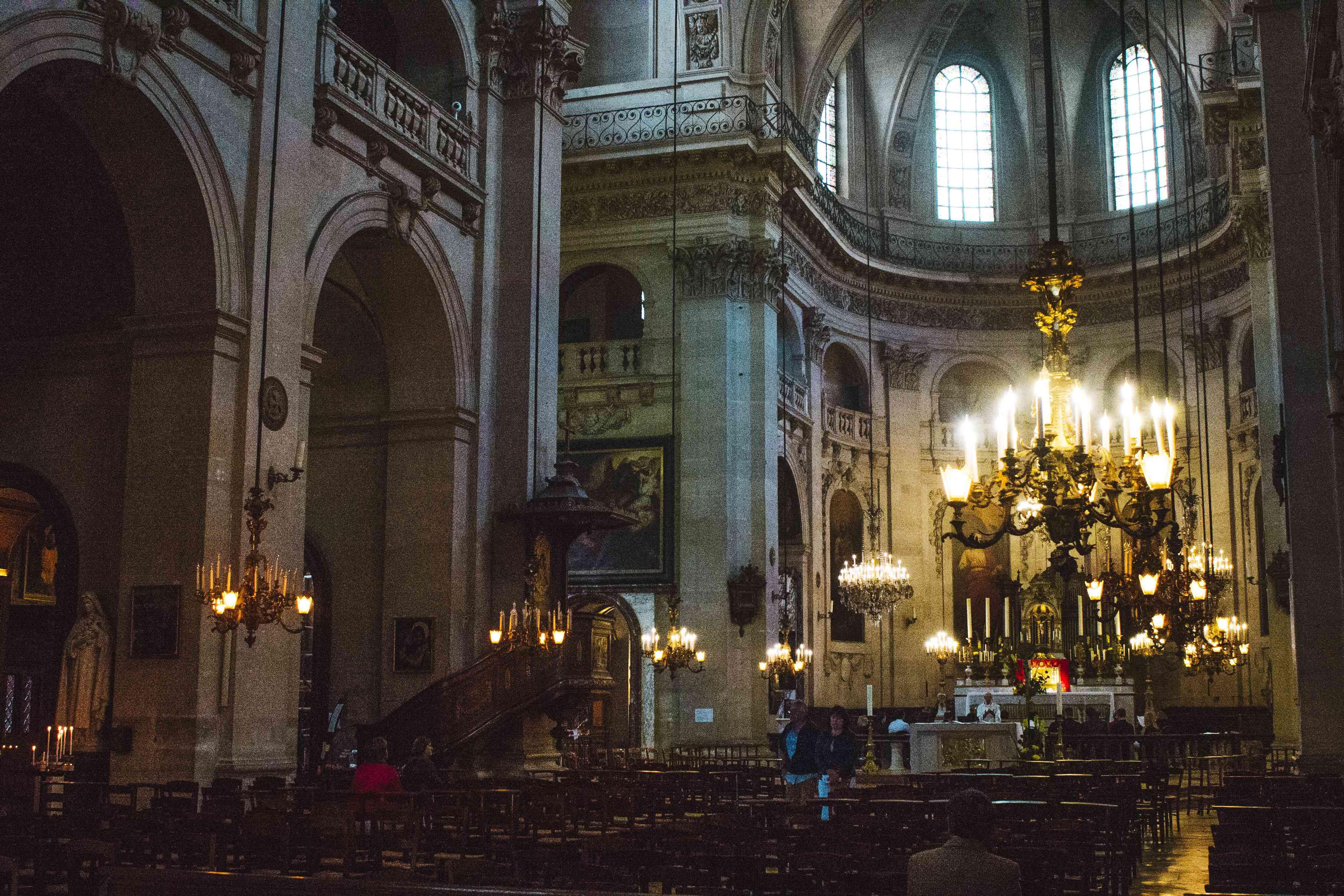 Inside Saint-Paul Saint-Louis Church