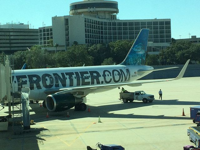 Frontier Airlines Airbus jet