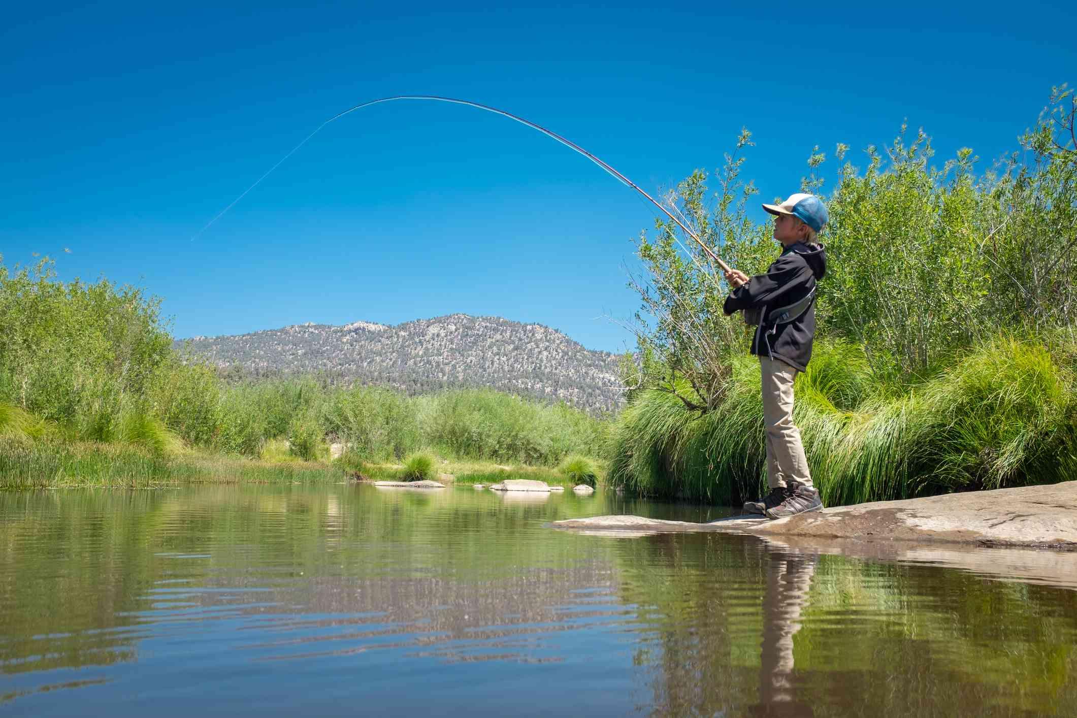 8 Year Old Boy Fly Fishing