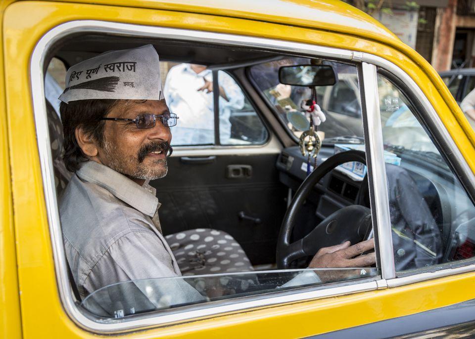 Taxi driver in Mumbai.