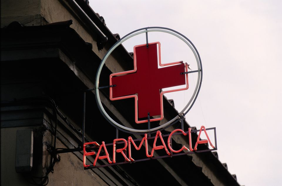 Italian Pharmacy Sign
