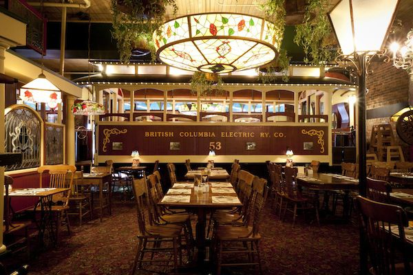 Inside the Old Spaghetti Factory in Gastown, Vancouver