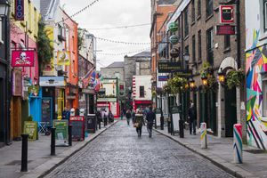 Crown Alley in the Temple Bar Area, Dublin