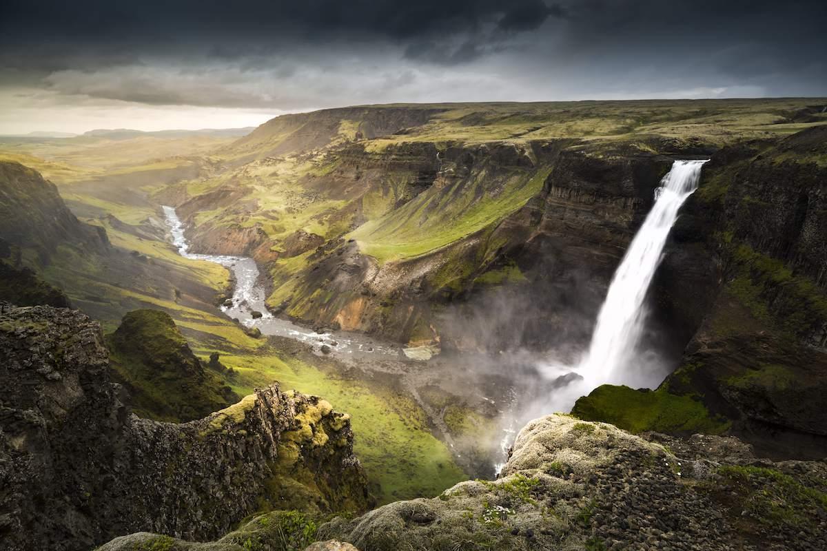 Háifoss waterfall in Iceland