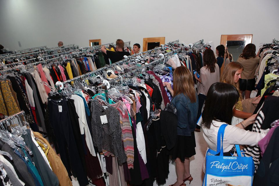 General Atmosphere at the Gilt City LA Summer Warehouse Sale at Siren Studios in Hollywood, California.