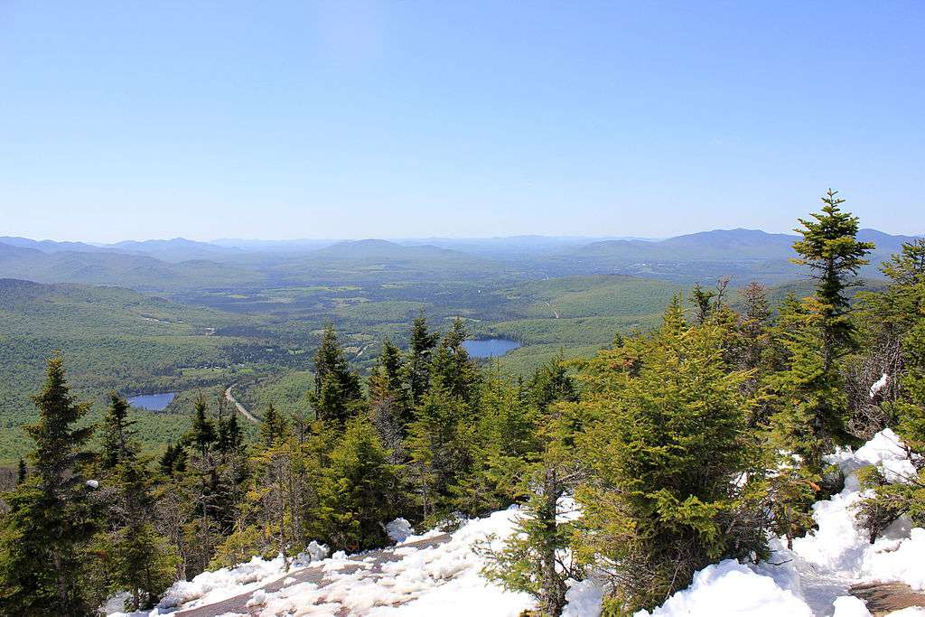View from the top of Cascade Mountain