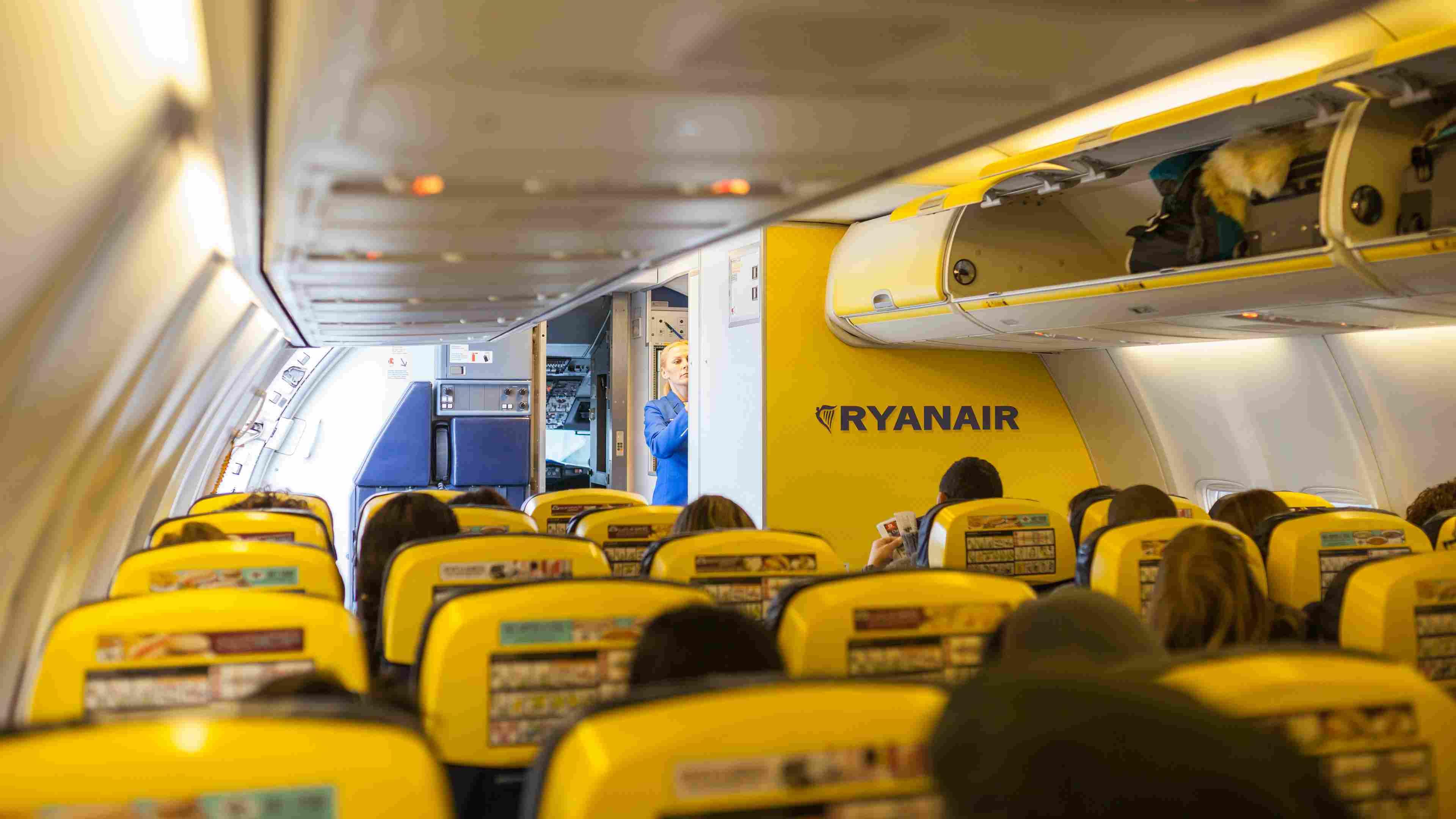 Ryanair Jet airplanes interior view