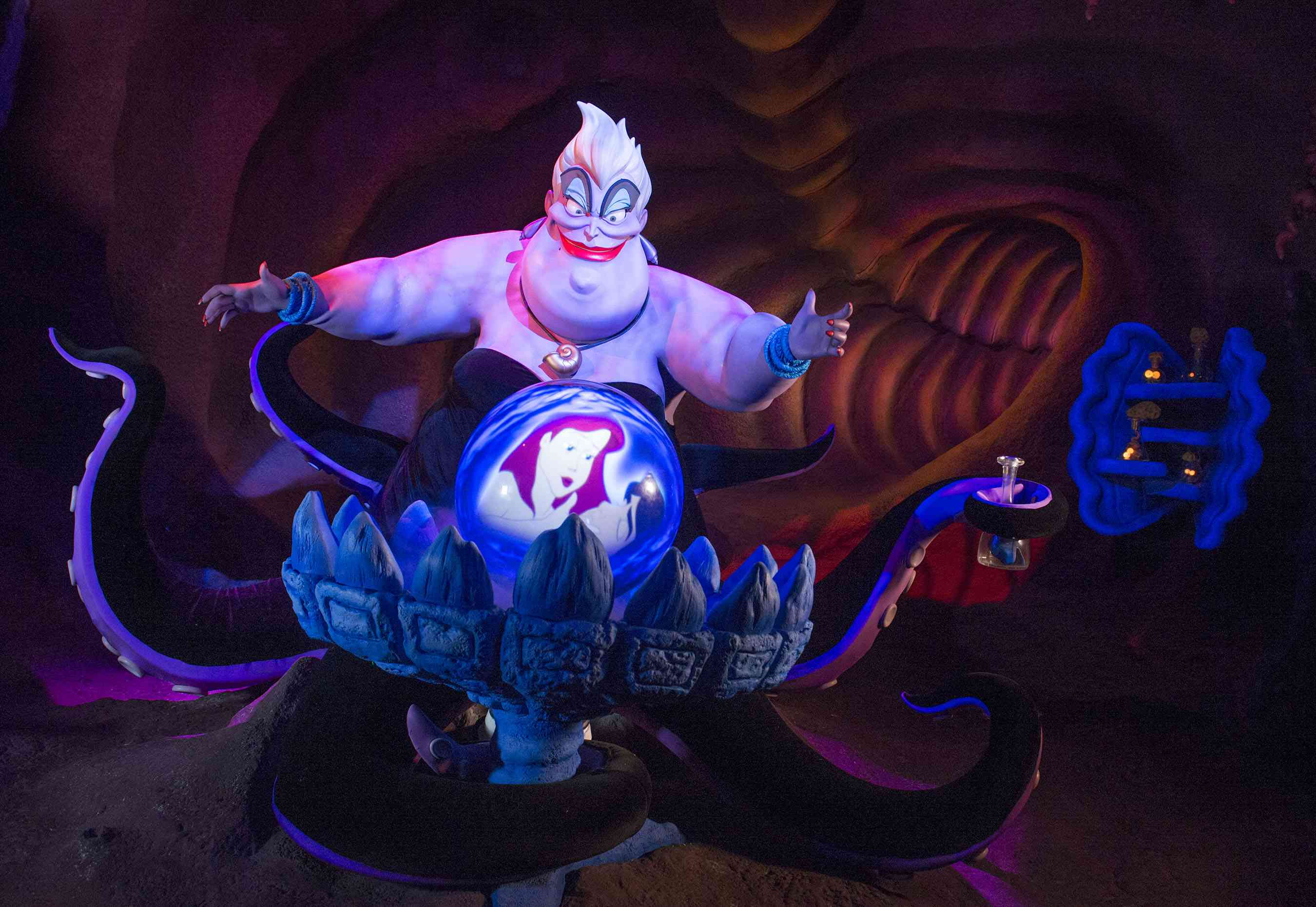 Ursula figure in Little Mermaid ride
