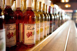 wine bottles from Pindar Vineyards