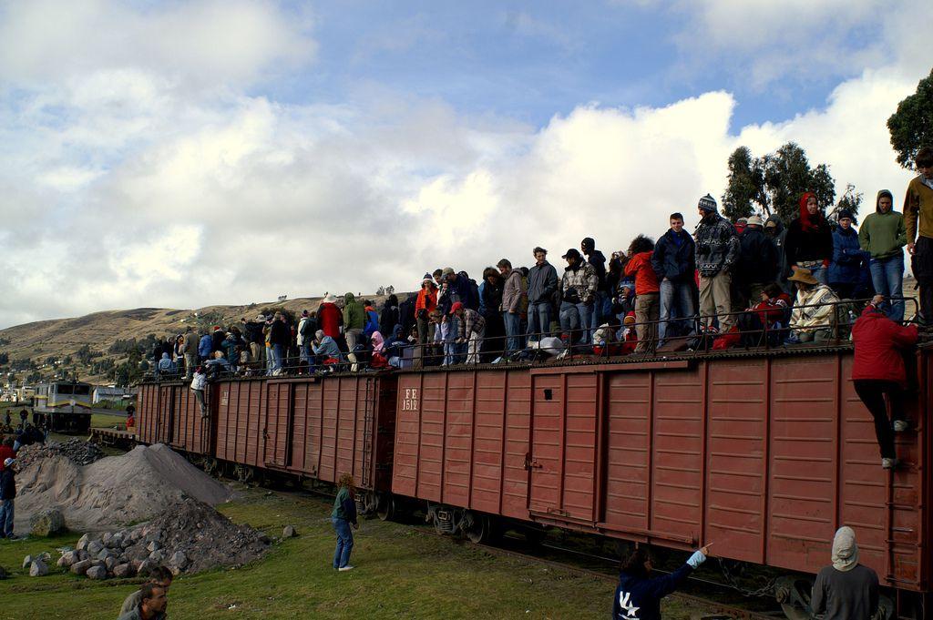 Tourists on the Devil's Nose Train