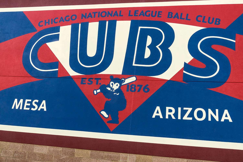 Vintage era signage, Cubs Park, new spring training home of Cubs, Mesa, AZ