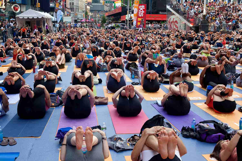 Solsticio en Times Square