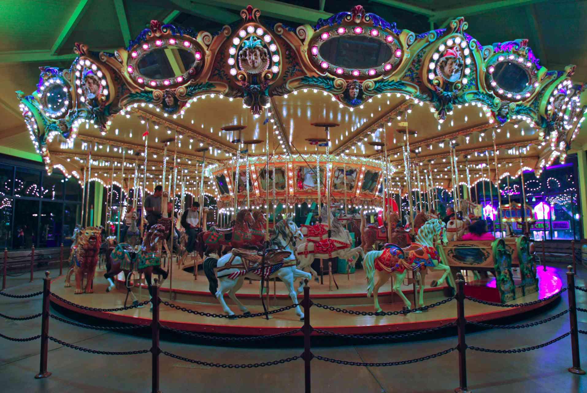 Castle Park carousel in California