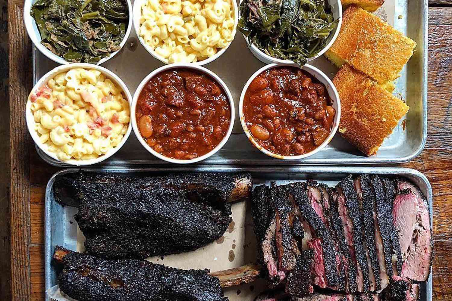 BBQ and an assortment of sides at Hometown Barbecue