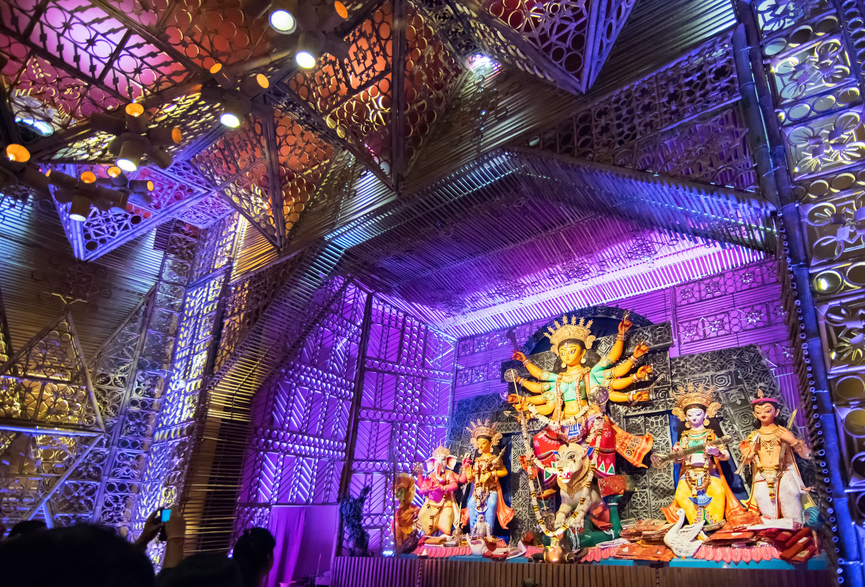 Photo Feature 25 Pictures Of Durga Puja In Kolkata