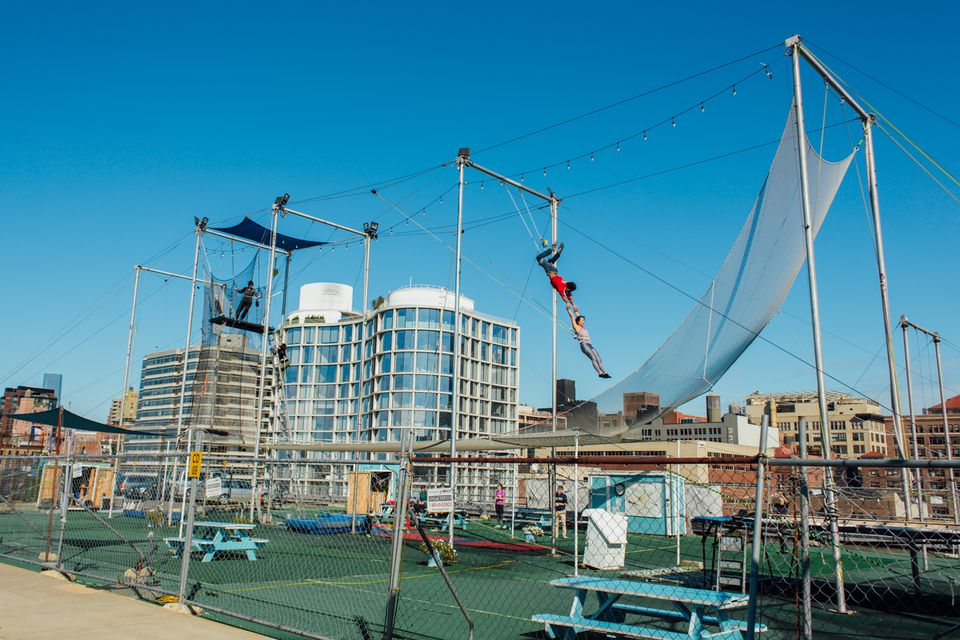 Trapeze School in New York City, NY